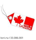 Купить «Pendant with MADE IN CANADA», фото № 33086001, снято 8 апреля 2020 г. (c) PantherMedia / Фотобанк Лори
