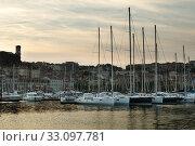 Купить «Yachts moored in Cannes», фото № 33097781, снято 27 февраля 2020 г. (c) PantherMedia / Фотобанк Лори