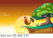 Купить «A hen», фото № 33105137, снято 4 апреля 2020 г. (c) PantherMedia / Фотобанк Лори