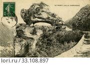 Купить «Скала Копыто Фротея. Иностранная французская открытка», фото № 33108897, снято 28 февраля 2020 г. (c) Retro / Фотобанк Лори
