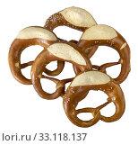 some pretzels, a typical south german pastry. Стоковое фото, фотограф Achim Prill / PantherMedia / Фотобанк Лори