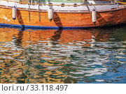 mirroring an old sailing ship in the water. Стоковое фото, фотограф Christian Müringer / PantherMedia / Фотобанк Лори
