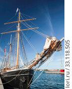 bug of a big,old sailing ship. Стоковое фото, фотограф Christian Müringer / PantherMedia / Фотобанк Лори