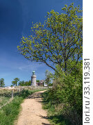 Купить «lighthouse hammeren lighthouse on bornholm», фото № 33119381, снято 19 февраля 2020 г. (c) PantherMedia / Фотобанк Лори