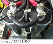Купить «high voltage electrical capacitors», фото № 33121453, снято 5 апреля 2020 г. (c) PantherMedia / Фотобанк Лори