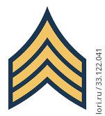 Купить «American army sergeant insignia rank», фото № 33122041, снято 24 февраля 2020 г. (c) PantherMedia / Фотобанк Лори