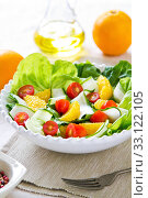 Orange salad. Стоковое фото, фотограф jongjai jongkasemsuk / PantherMedia / Фотобанк Лори