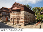 Купить «Church of St. Paraskeva in Nessebar, Bulgaria», фото № 33125433, снято 26 июня 2019 г. (c) Юлия Бабкина / Фотобанк Лори