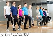 Купить «People fulfilling Celtic dance movements», фото № 33125833, снято 3 августа 2020 г. (c) Яков Филимонов / Фотобанк Лори