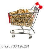 Купить «pellets in shopping cart», фото № 33126281, снято 6 июня 2020 г. (c) PantherMedia / Фотобанк Лори