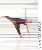Купить «young attractive woman in yoga pose», фото № 33126805, снято 16 февраля 2020 г. (c) PantherMedia / Фотобанк Лори