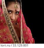 Купить «Mystery young Indian girl», фото № 33129801, снято 17 февраля 2020 г. (c) PantherMedia / Фотобанк Лори