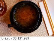 Купить «Japanese miso soup», фото № 33131989, снято 20 февраля 2020 г. (c) Яков Филимонов / Фотобанк Лори