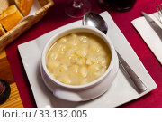 Snail shell shaped pasta soup. Стоковое фото, фотограф Яков Филимонов / Фотобанк Лори