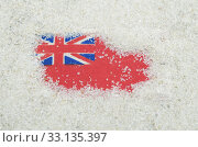 red ensign flag in the sand. Стоковое фото, фотограф saturno dona / PantherMedia / Фотобанк Лори