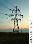 Купить «Electric lines», фото № 33137697, снято 26 мая 2020 г. (c) PantherMedia / Фотобанк Лори