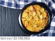 close-up of a delicious, cheesy, potato casserole. Стоковое фото, фотограф Oksana Zh / Фотобанк Лори
