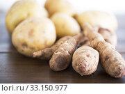 Купить «Potatoes and Jerusalem Artichokes», фото № 33150977, снято 22 февраля 2020 г. (c) PantherMedia / Фотобанк Лори