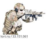 Купить «special warfare operator», фото № 33151061, снято 25 мая 2020 г. (c) PantherMedia / Фотобанк Лори