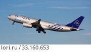 Купить «Airbus of SkyTeam airline alliance taking off at El Prat Airport», фото № 33160653, снято 2 февраля 2020 г. (c) Яков Филимонов / Фотобанк Лори