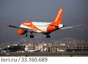 Купить «EasyJet Europe Airbus G-EZFZ landing in El Prat Airport», фото № 33160689, снято 24 января 2020 г. (c) Яков Филимонов / Фотобанк Лори