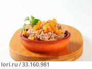 Купить «Meat spread with orange succade», фото № 33160981, снято 1 апреля 2020 г. (c) PantherMedia / Фотобанк Лори