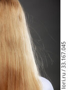 Купить «closeup of woman with blonde hair static.», фото № 33167045, снято 31 марта 2020 г. (c) PantherMedia / Фотобанк Лори
