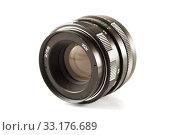 Vintage camera lens. Стоковое фото, фотограф Jelena Jovanovic / PantherMedia / Фотобанк Лори