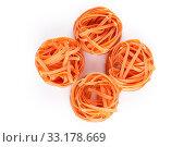 Купить «chilli orange fettuccine pasta», фото № 33178669, снято 25 мая 2020 г. (c) PantherMedia / Фотобанк Лори