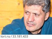 Купить «Portrait of a handsomely tired elderly man.», фото № 33181433, снято 28 сентября 2019 г. (c) Акиньшин Владимир / Фотобанк Лори