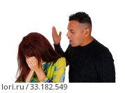 Купить «Man shouting at his wife.», фото № 33182549, снято 28 мая 2020 г. (c) PantherMedia / Фотобанк Лори