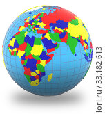 Купить «Eastern Hemisphere on the globe», фото № 33182613, снято 25 мая 2020 г. (c) PantherMedia / Фотобанк Лори