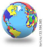 Western hemisphere on the globe. Стоковое фото, фотограф Tomas Griger / PantherMedia / Фотобанк Лори
