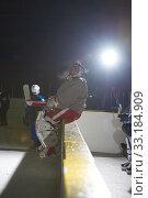 Купить «ice hockey players on bench», фото № 33184909, снято 4 июня 2020 г. (c) PantherMedia / Фотобанк Лори