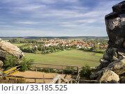 Купить «View of Weddersleben (Resin) from the Devil's Wall», фото № 33185525, снято 25 февраля 2020 г. (c) PantherMedia / Фотобанк Лори