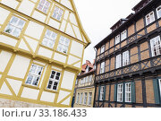 renovated half-timbered house in quedlinburg,harz,saxony-anhalt. Стоковое фото, фотограф Harald Biebel / PantherMedia / Фотобанк Лори