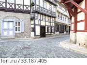 Купить «Half-timbered in Quedlinburg,Harz», фото № 33187405, снято 25 февраля 2020 г. (c) PantherMedia / Фотобанк Лори