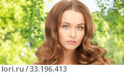 Купить «beautiful woman with curly hair», фото № 33196413, снято 10 октября 2010 г. (c) Syda Productions / Фотобанк Лори