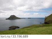 Gasholmur and Tindholmur on the Faroe Islands. Стоковое фото, фотограф Andreas Altenburger / PantherMedia / Фотобанк Лори