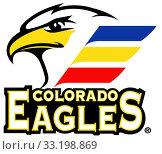 """Купить «Эмблема хоккейного клуба """"Colorado Eagles"""".США», иллюстрация № 33198869 (c) Владимир Макеев / Фотобанк Лори"""