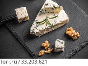 Купить «Gorgonzola cheese», фото № 33203621, снято 4 августа 2020 г. (c) PantherMedia / Фотобанк Лори
