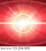 Купить «Meteorite impact on a planet in space», фото № 33204909, снято 16 июля 2020 г. (c) PantherMedia / Фотобанк Лори