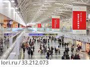 Зона вылета в международном аэропорту Пекина (2012 год). Редакционное фото, фотограф Александр Гаценко / Фотобанк Лори