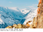 Купить «Snow-capped peaks of the Caucasus Mountains. Caucasian landscape. the Kabardino-Balkarian republic. Russia», фото № 33215321, снято 16 июля 2020 г. (c) easy Fotostock / Фотобанк Лори