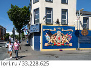 Купить «Great Britain, Belfast - Mural with reference to Ulster units of the British Army in World War I, Shankill Road, Protestant part of West Belfast», фото № 33228625, снято 14 июля 2019 г. (c) Caro Photoagency / Фотобанк Лори