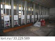 Magdeburg, Germany, public WC under construction. Редакционное фото, агентство Caro Photoagency / Фотобанк Лори