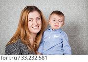 Купить «Baby boy and mommy», фото № 33232581, снято 28 мая 2020 г. (c) PantherMedia / Фотобанк Лори