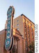 Купить «Iconic Portland Sign», фото № 33238553, снято 2 июня 2020 г. (c) PantherMedia / Фотобанк Лори