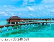 Купить «beach with  Maldives», фото № 33240689, снято 2 июня 2020 г. (c) PantherMedia / Фотобанк Лори
