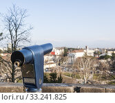 Coin Operated Telescope for Sightseeing. Стоковое фото, фотограф Franco Nadalin / PantherMedia / Фотобанк Лори